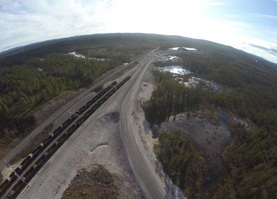 Svappavaara Pitkäjärvi Omlastnigsterminal
